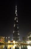 Burj Khalifa at night Stock Image