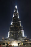 Burj Khalifa at night, Dubai Stock Photo