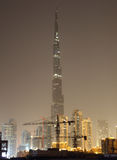 Burj Khalifa at night. Dubai Royalty Free Stock Photos