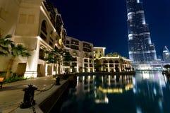 Burj Khalifa at night, Dubai Royalty Free Stock Photo