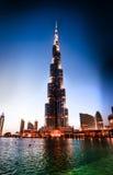 Burj Khalifa at night Stock Photo