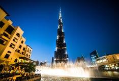 Burj Khalifa at night Royalty Free Stock Images