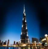 Burj Khalifa at night Royalty Free Stock Image
