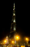 Burj Khalifa at night, Dubai Royalty Free Stock Photos