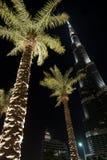 Burj Khalifa at night, Dubai Stock Photos