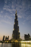 The burj khalifa at night Royalty Free Stock Photography