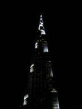 The Burj Khalifa by night. Royalty Free Stock Photo
