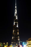 Burj khalifa by night Royalty Free Stock Photography