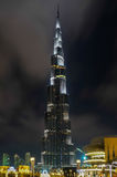 Burj khalifa by night Royalty Free Stock Photos