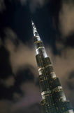 Burj khalifa by night Stock Photos