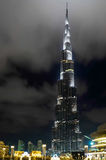 Burj khalifa by night Stock Images