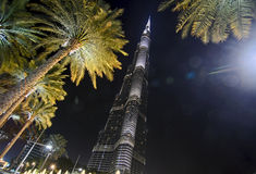 Burj khalifa at night Royalty Free Stock Photo