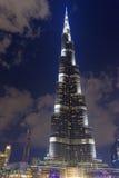 Burj Khalifa at night Stock Images