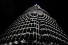 Burj khalifa by night Royalty Free Stock Photo