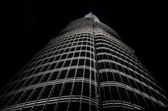 Burj khalifa by night Stock Image