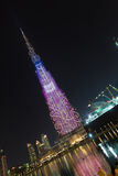 Burj Khalifa, o arranha-céus o mais alto do ` s do mundo, Dubai, Emiratos Árabes Unidos Fotos de Stock Royalty Free
