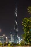 Burj Khalifa och i stadens centrum Dubai Arkivfoton