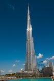 Burj Khalifa op een heldere zonnige dag Royalty-vrije Stock Afbeelding