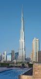 Burj Khalifa among other Dubai skyscrapers Royalty Free Stock Image