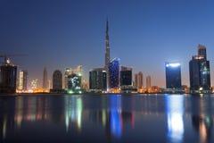 Burj Khalifa på gryning Arkivfoto