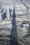 Burj Khalifa Shadow Royalty Free Stock Photos