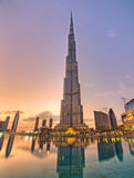 Burj Khalifa skyscraper Stock Photography