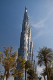The Burj Khalifa skyscraper Royalty Free Stock Photos