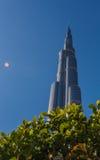Burj Khalifa skyskrapa Dubai Arkivfoto