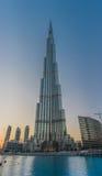 Burj Khalifa skyskrapa Dubai Royaltyfri Foto
