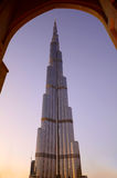 Burj Khalifa am Sonnenuntergang, Dubai stockbilder