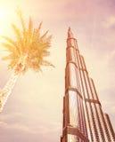 Burj Khalifa on sunset Stock Photo