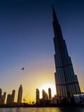 Burj Khalifa at sunset Royalty Free Stock Photography