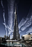 Burj Khalifa. Is the tallest building in the world located in Dubai, United Arab Emirates Royalty Free Stock Images