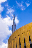 Burj Khalifa and Dubai Mall Stock Photography