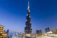 Burj Khalifa. The tallest manmade structure in the world, at 829.8 m Royalty Free Stock Images