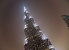 Burj Khalifa (torre) di Khalifa, Dubai Fotografia Stock Libera da Diritti