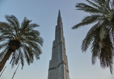 Burj Khalifa, torre più alta del mondo nel Dubai immagine stock