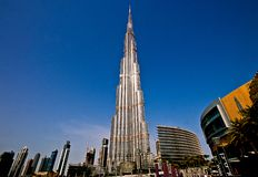Burj Khalifa Tower stockfotos