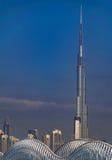 Burj Khalifa Tower, den högsta byggnaden i världen Arkivfoto