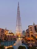 Burj Khalifa Tower Dubai Arkivbilder