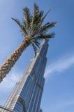 Burj Khalifa und das Adressen-Hotel Lizenzfreie Stockfotografie