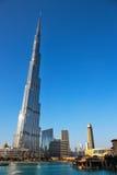 Burj Khalifa - världens mest högväxta torn på i stadens centrum Burj Dubai Arkivbild