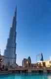 Burj Khalifa - världens mest högväxta torn på i stadens centrum Burj Dubai Royaltyfri Bild
