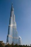 Burj Khalifa - världens mest högväxta torn på i stadens centrum Burj Dubai Royaltyfri Foto