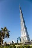 Burj Khalifa - världens mest högväxta torn på i stadens centrum Burj Dubai Arkivbilder