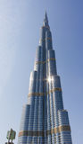 Burj Khalifa - världens mest högväxta torn på i stadens centrum Burj Dubai Fotografering för Bildbyråer
