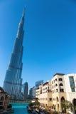 Burj Khalifa - världens mest högväxta torn på i stadens centrum Burj Dubai Arkivfoton