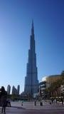 Burj Khalifa, världs mest högväxta torn, i stadens centrum Burj Dubai Arkivfoton