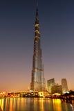 Burj Khalifa w Dubaj Zdjęcie Stock