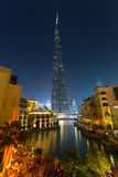 Burj Khalifa, światowy ` s wysoki drapacz chmur, Dubaj, Zjednoczone Emiraty Arabskie Obraz Stock